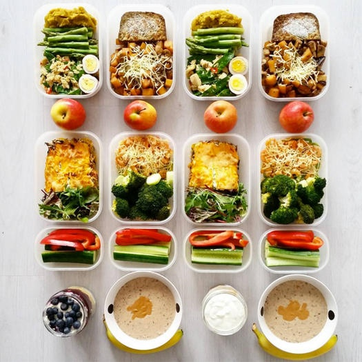 Meal planning helps keep fitness goals on track.