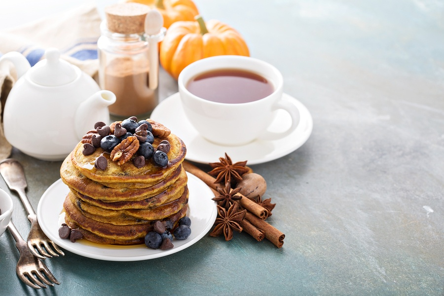 Try pumpkin Stack'd Protein Pancake Mix.