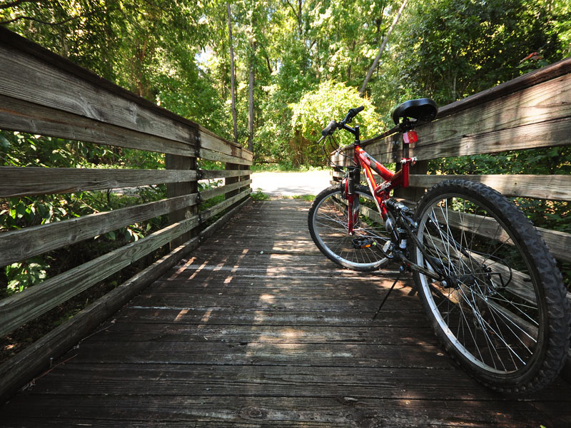Biking and hiking trails around Jax is a great way to keep your February fit.